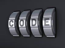Combinazione di parola d'ordine di sicurezza illlustration 3d Fotografie Stock