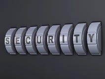 Combinazione di parola d'ordine di sicurezza illlustration 3d Immagine Stock Libera da Diritti