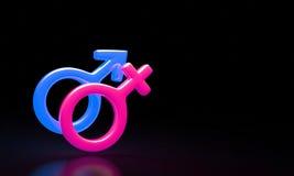 Combinazione maschio e femminile di simboli Fotografia Stock Libera da Diritti