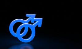Combinazione maschio e femminile di simboli Fotografie Stock