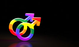 Combinazione maschio e femminile di simboli Fotografie Stock Libere da Diritti