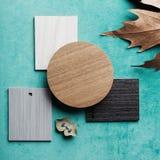 Combinazioni colori del bordo di umore di interior design Immagini Stock