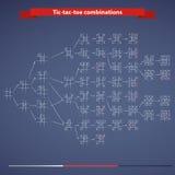 combinazioni del Tic-TAC-dito del piede Illustrazione di Stock