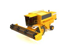 Combine. Harvester isolated on a white background vector illustration