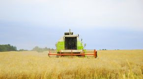 Combine. At work - harvest time Royalty Free Stock Image
