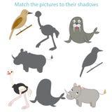 Combine as imagens a seu jogo da criança das sombras Fotografia de Stock Royalty Free