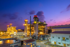 Combine cycle power plant. With twilight sky Royalty Free Stock Photography