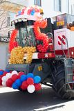 Combine decorated with balloons Stock Image