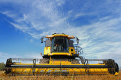 Combine in the field Royalty Free Stock Photography