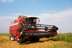 Combine in a field Royalty Free Stock Photo