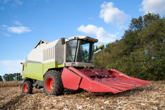 Combine on a field Stock Image