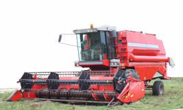 A combine harvester Stock Photo