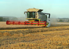 Combine harvester. stock photography