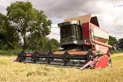 Combine Harvester. A combine harvester on a U.K. farm Royalty Free Stock Photos