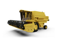 Combine Harvester. Isolated combine harvester on a white background Stock Image