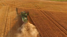 Combine harvester in action. stock video footage