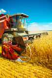 Combine harvester close up Royalty Free Stock Images