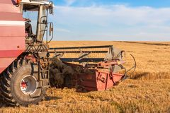 Combine harvester close up Stock Photo