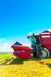 Combine harvester closeup Royalty Free Stock Photography