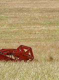 Combine harvester detail Royalty Free Stock Photo