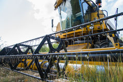 Combine harvester. Detail the front of a combine Royalty Free Stock Photography
