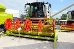 Combine harvester on display Stock Photo