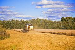 Combine harvester on the field Royalty Free Stock Photos