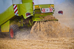 Combine harvester on a field Stock Images