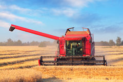 Combine harvester on field Royalty Free Stock Photography
