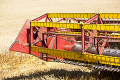 Combine Harvester in field Royalty Free Stock Image