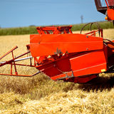 Combine harvester front Stock Photo