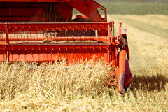 Combine harvester front Royalty Free Stock Images