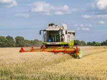 The harvest machine royalty free stock photography