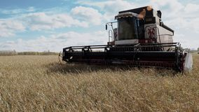 Combine harvester harvest agriculture cereal culture farm field stock footage