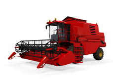 Combine Harvester Isolated. On white background. 3D render Royalty Free Stock Photos