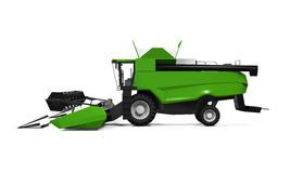 Combine Harvester Isolated. On white background. 3D render Stock Photography