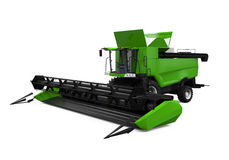 Combine Harvester Isolated. On white background. 3D render Royalty Free Stock Image