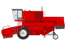 Combine harvester. Retro combine harvester on a white background Stock Photo