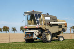 Combine harvester standing Royalty Free Stock Photo
