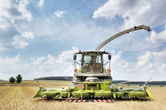 Combine harvester and thresher stock photos