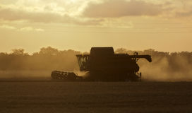 Combine harvester twilight Stock Photography
