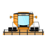 Combine-harvester a vector illustration isolated Royalty Free Stock Photos