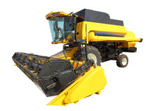 Combine harvester on a white background Royalty Free Stock Images