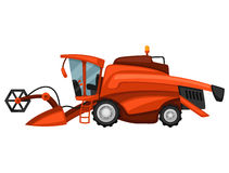 Combine harvester on white background. Abstract illustration of agricultural machinery Stock Photography