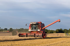 Combine harvester at work Royalty Free Stock Photo