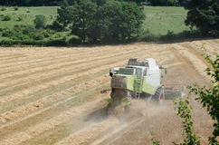 Combine harvester. At work in wheat field Royalty Free Stock Images
