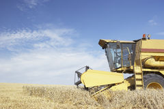 Combine Harvester Working In Field Royalty Free Stock Photos