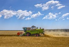 Harvester machine to harvest Royalty Free Stock Photography