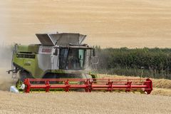 Combine Harvester - Yorkshire - England royalty free stock photography