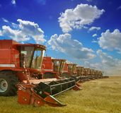 Combine Harvesters Royalty Free Stock Photos